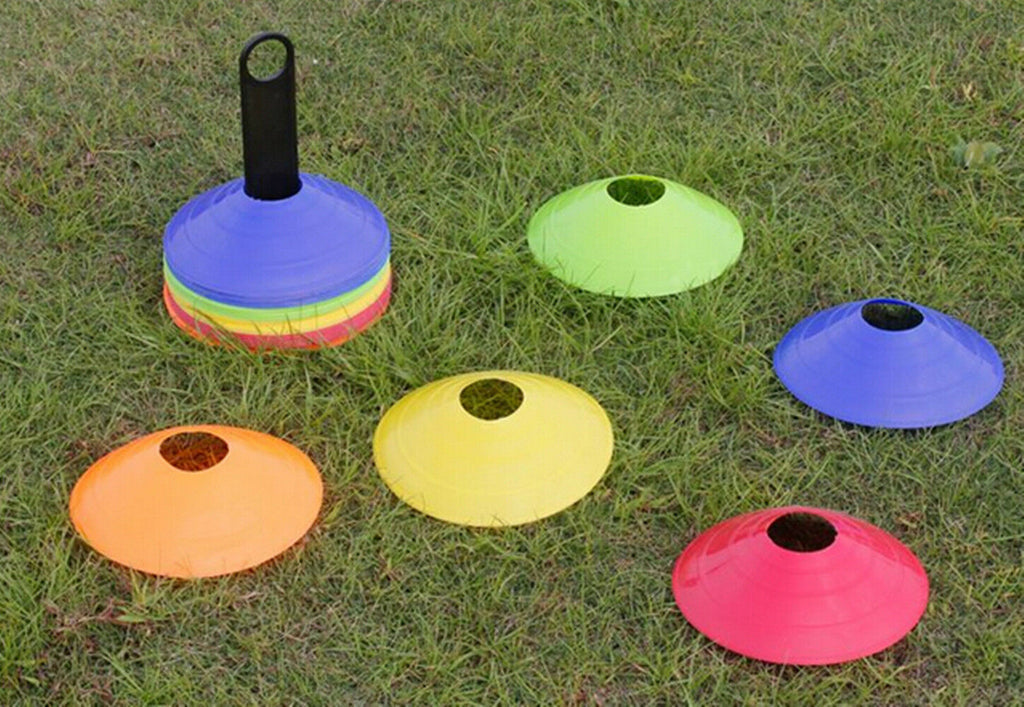 50 Field Marking / Marker Disc Cones Soccer Football Training Sports Free Holder