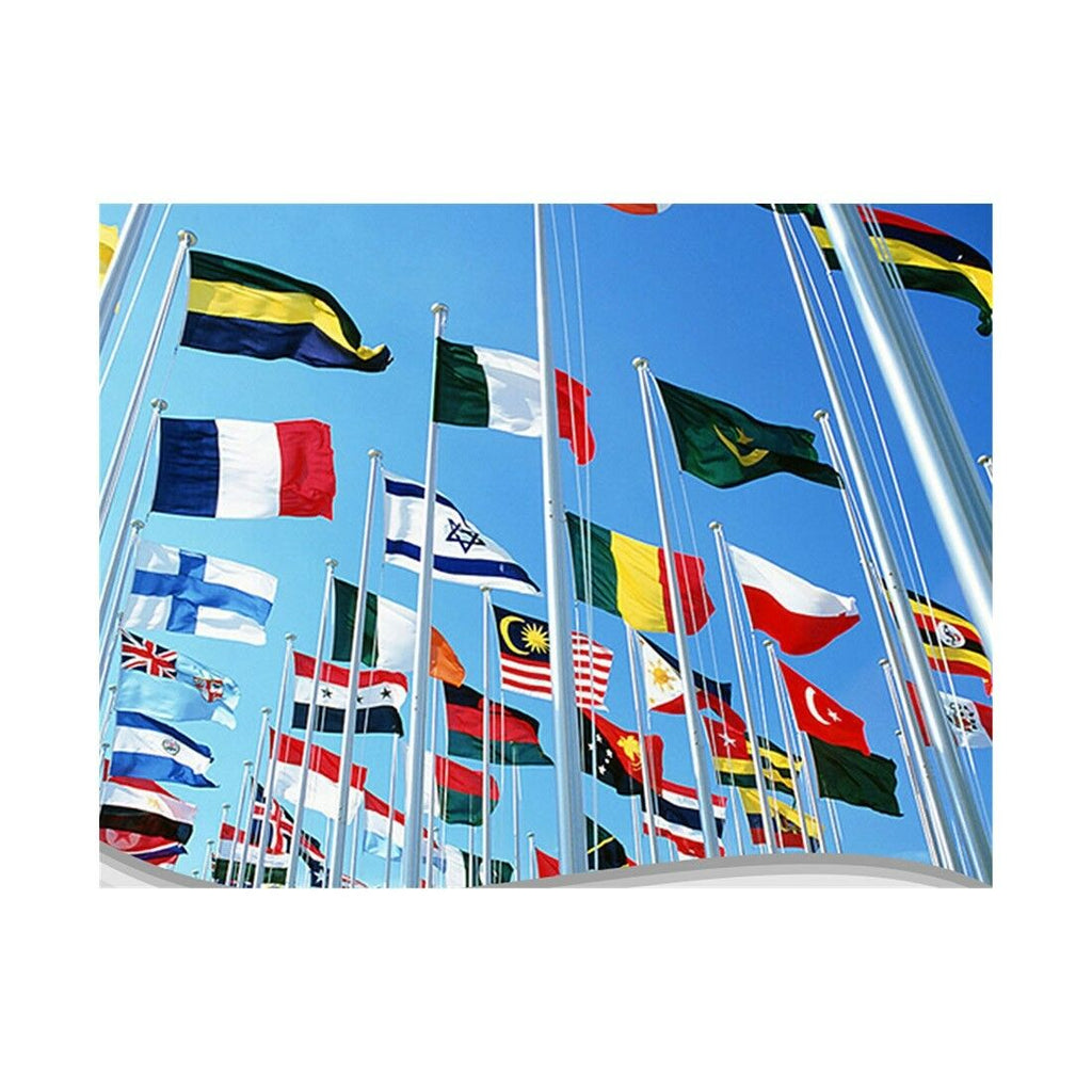120 * 180 cm flag Various countries in the world Polyester banner flag    Korea