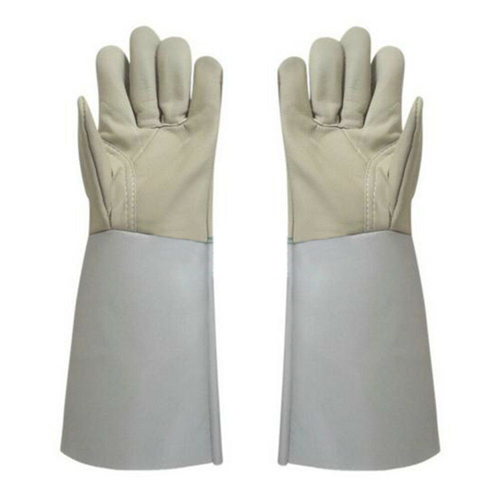 1 pair Long Mig Welding WELDERS Work Cowhide Leather Gloves 36cm