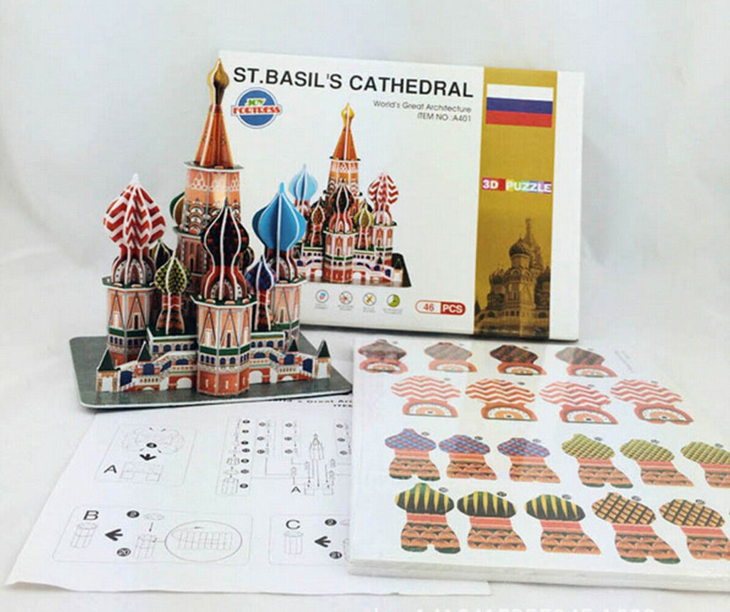 Educational 3D Model Puzzle Jigsaw Vasilli cathedral DIY Toy