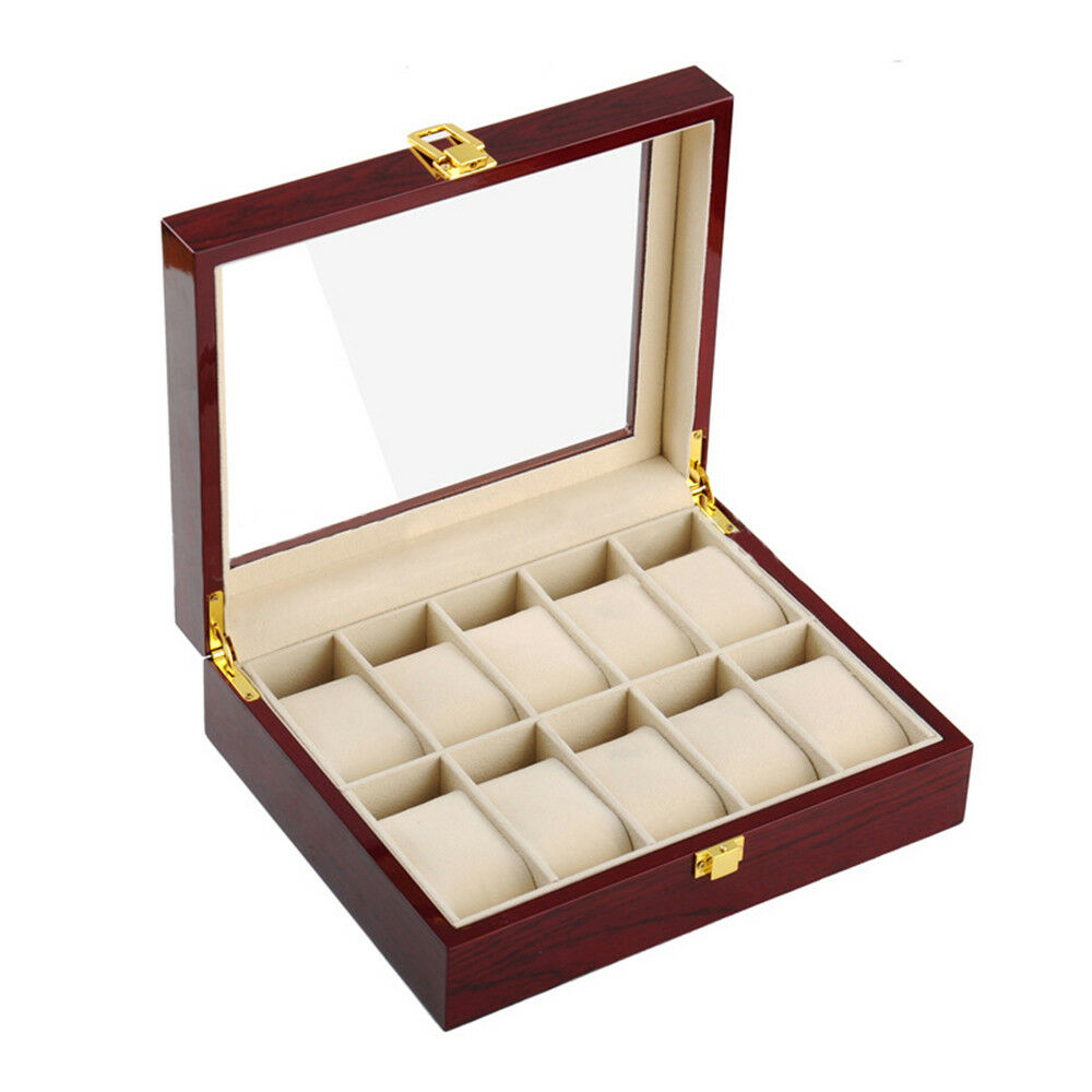 PU Watch Box Multifunctional Watch Storage Box 10 Positions
