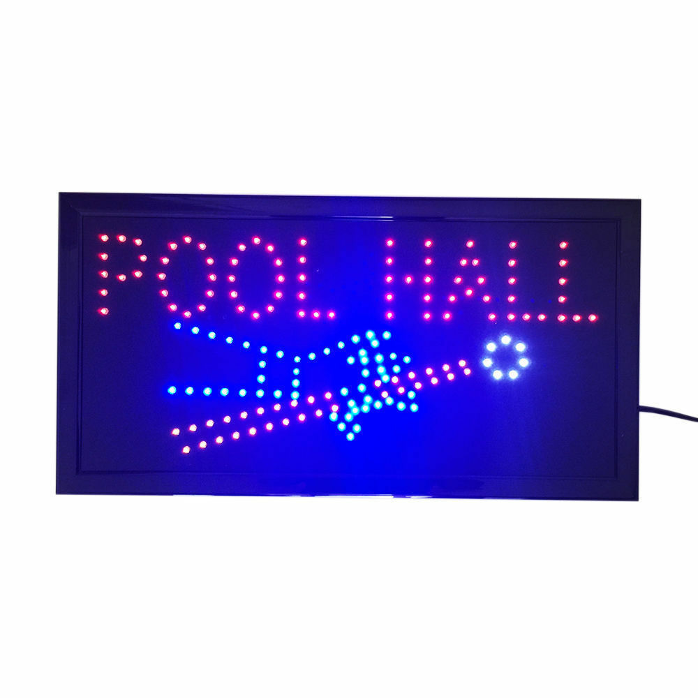 Neon Lights LED Animated Sign Lamp Billiards Pool Hall