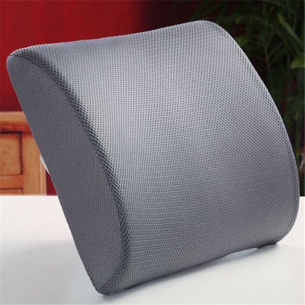 Back Support Cushion Pillow Memory Foam Lumbar Office Home Chair Car Seat
