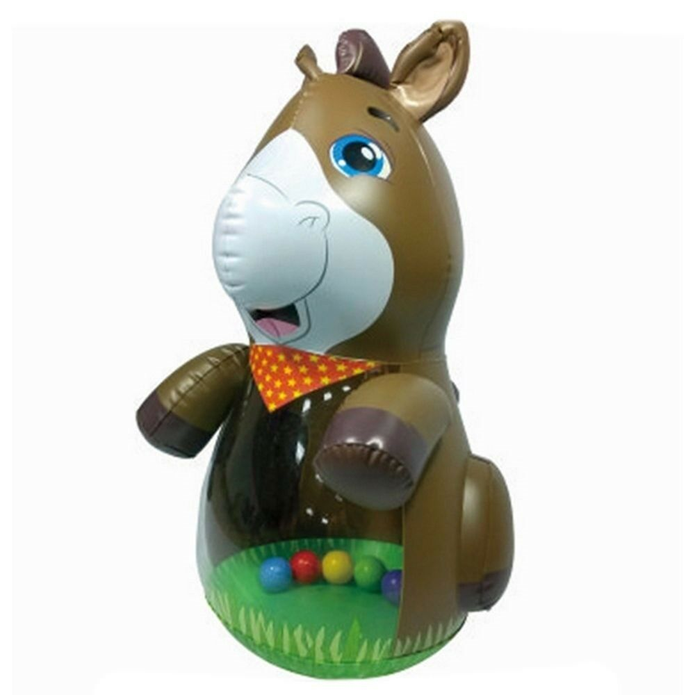 Thick Large Tumbler Inflatable Horse PVC Toy