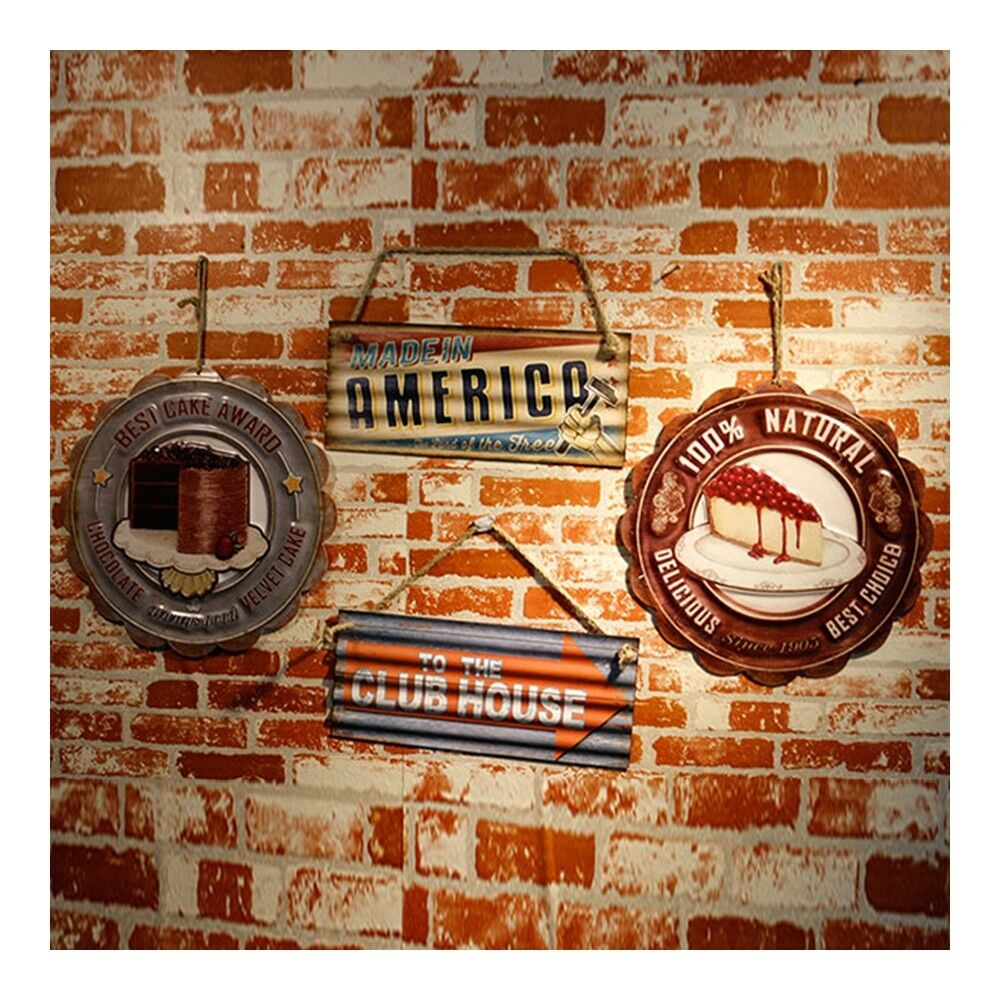 America Vintage Creative Iron Wall Hanging Decoration   8