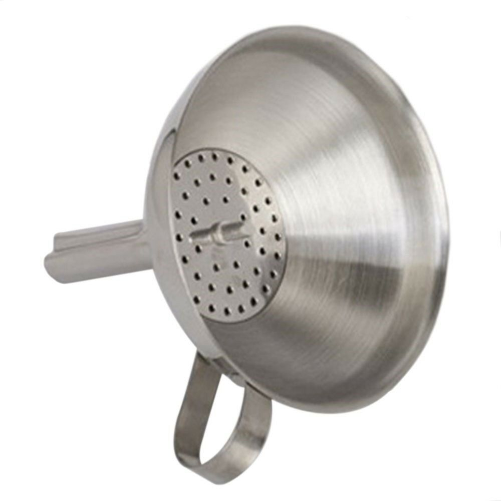 Thick Stainless Steel Handle Wine Beer Brewing Funnel Homemade Wine Beer Filter