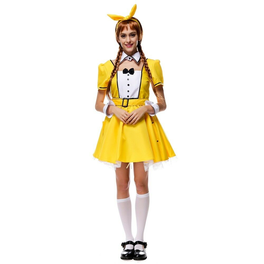 Yellow Modern Stage Costume Student Kawaii Hostess