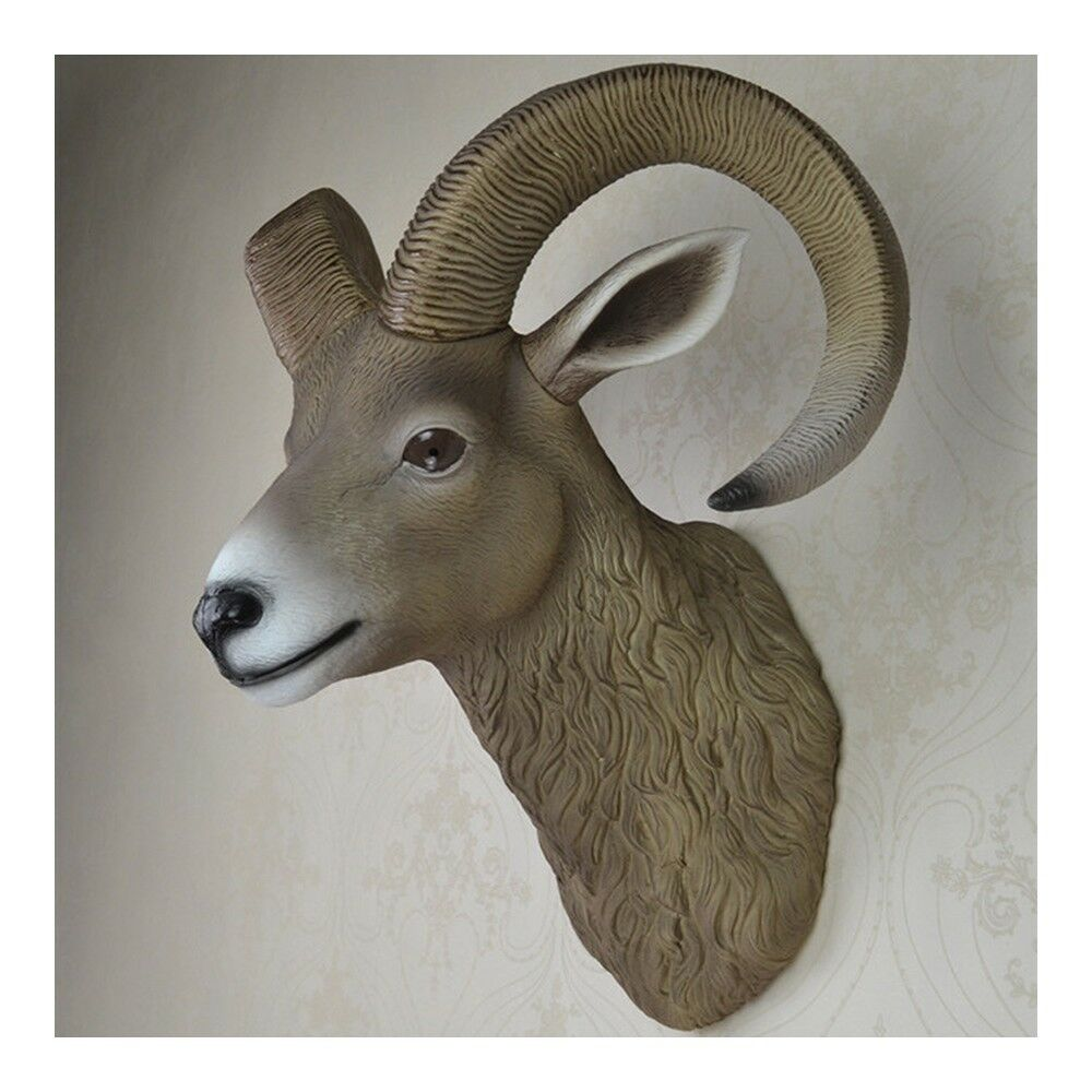 Sheep Head Wall Hanging Decoration Plastic simulation color