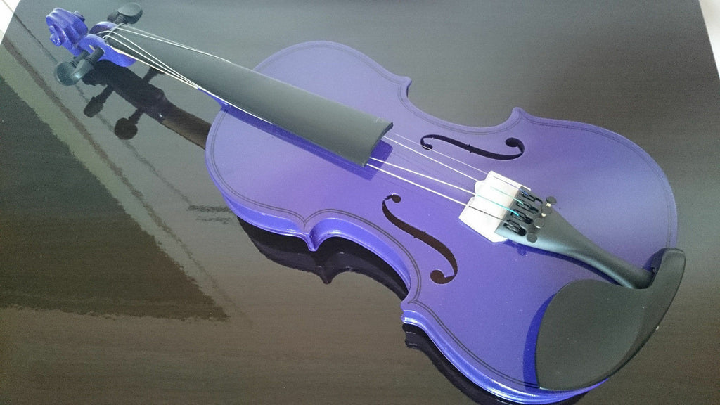 Student Acoustic Violin Full 1/8 Maple Spruce with Case Bow Rosin Purple Color