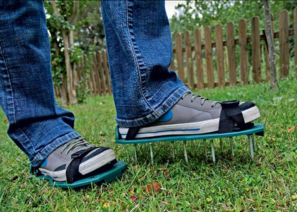 Lawn Aerator Sandals Shoes Grass Spiked Green Gardening Walking Revitalizing New