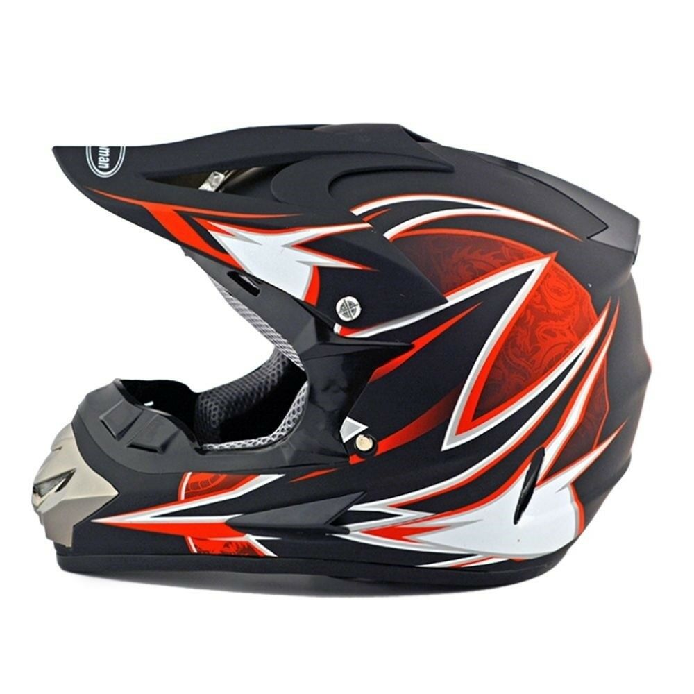 Motorcycle Motor Bike Scooter Safety Helmet dull black dragon