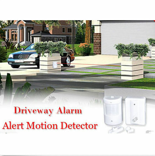 Driveway Patrol Motion Sensor Alarm Infrared Wireless Alert Security System Kit