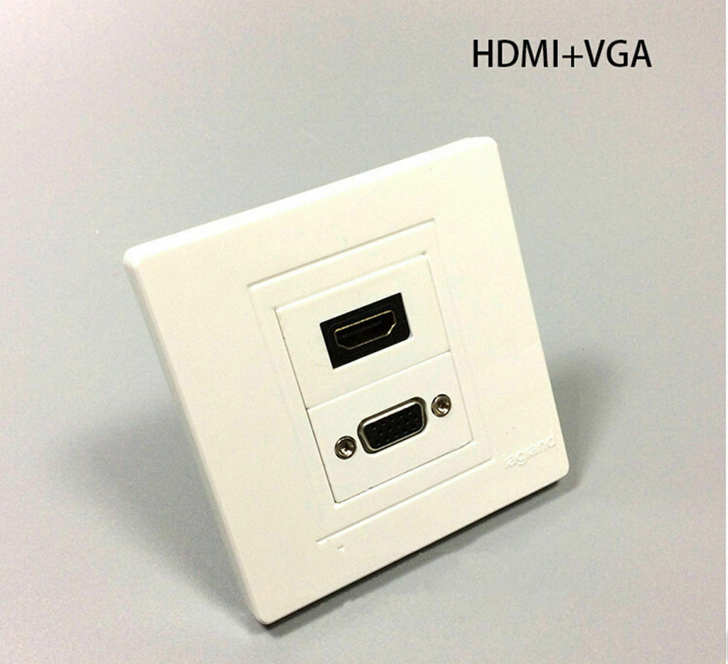 HDMI VGA Component Composite Audio Video Wall Face Plate Panel