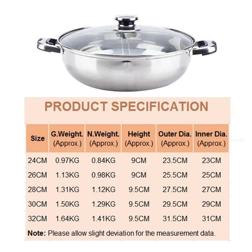 304 Stainless Steel Thick Duck Pot Non-sticky   24cm