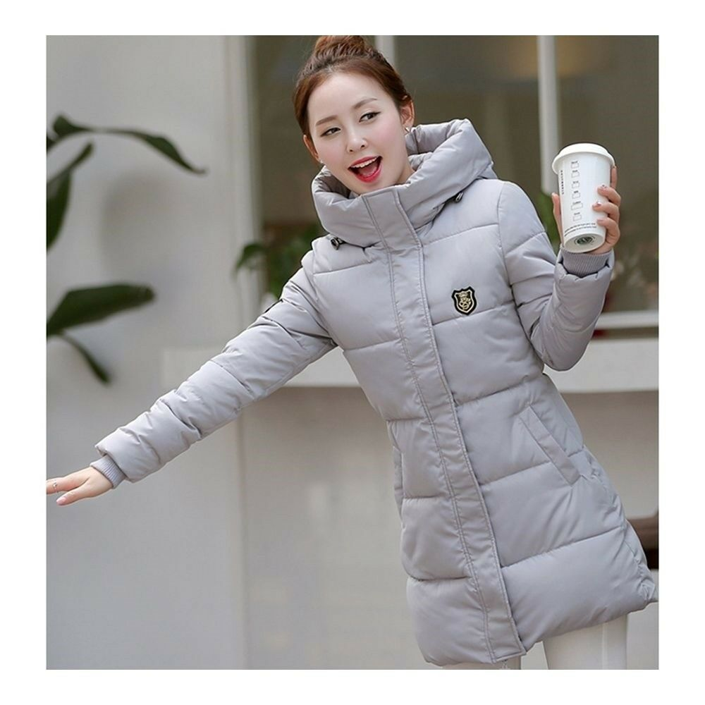 Super Long Down Coat Woman Thick Fashionable Thick   grey