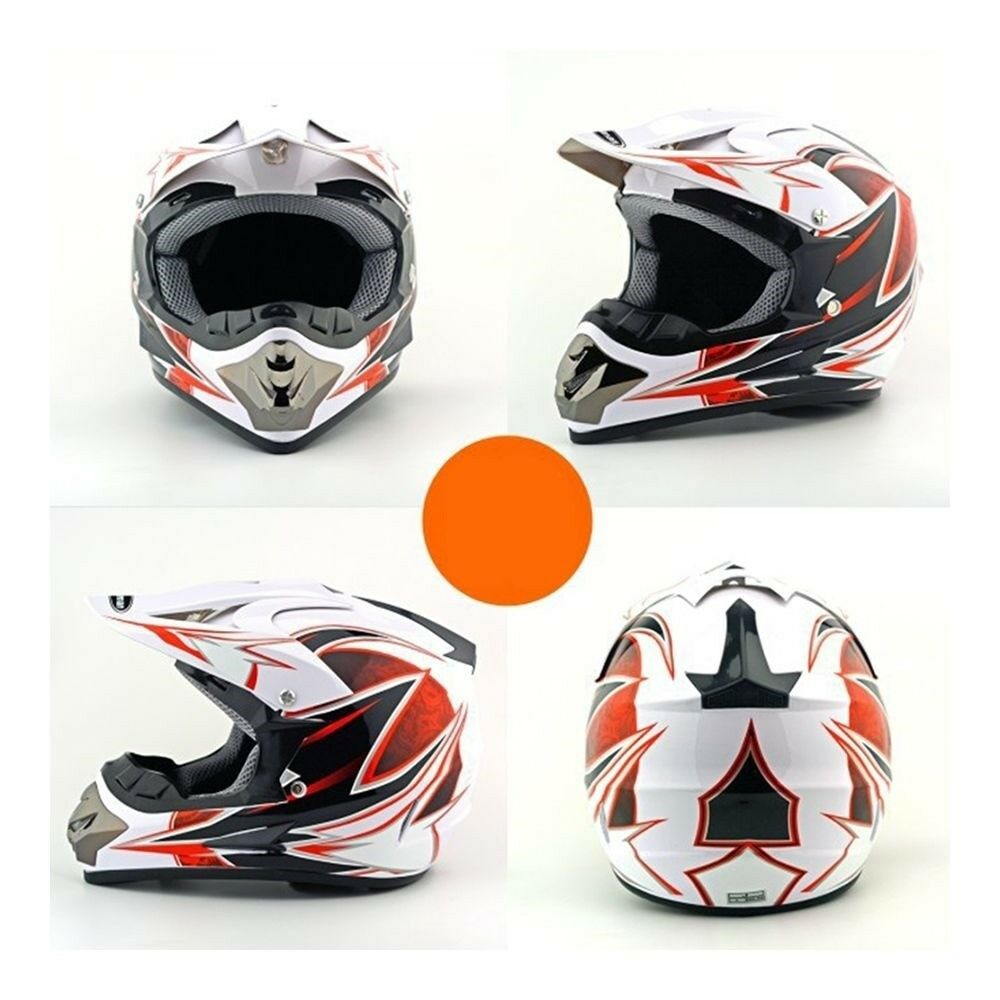 Motorcycle Motor Bike Scooter Safety Helmet white dragon
