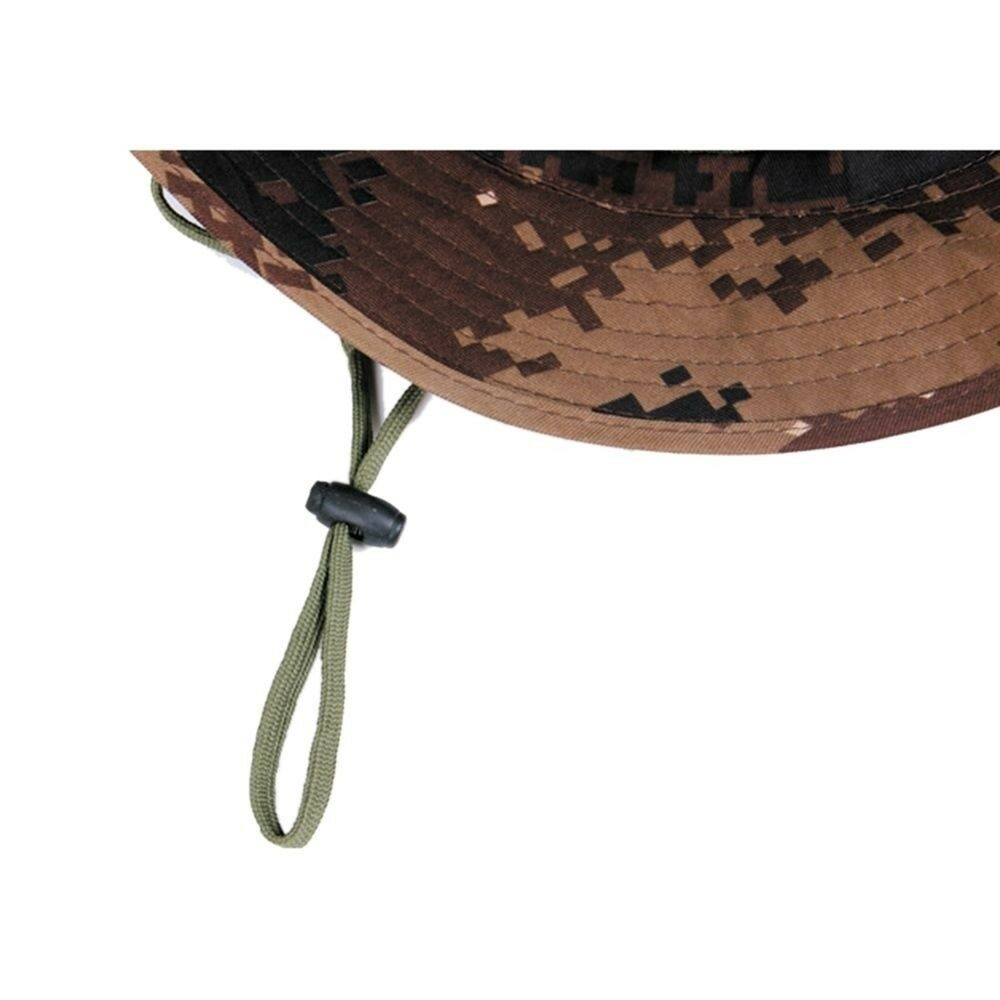 Outdoor Casual Combat Camo Ripstop Jungle Sun Hat Cap Fishing Hiking   electric