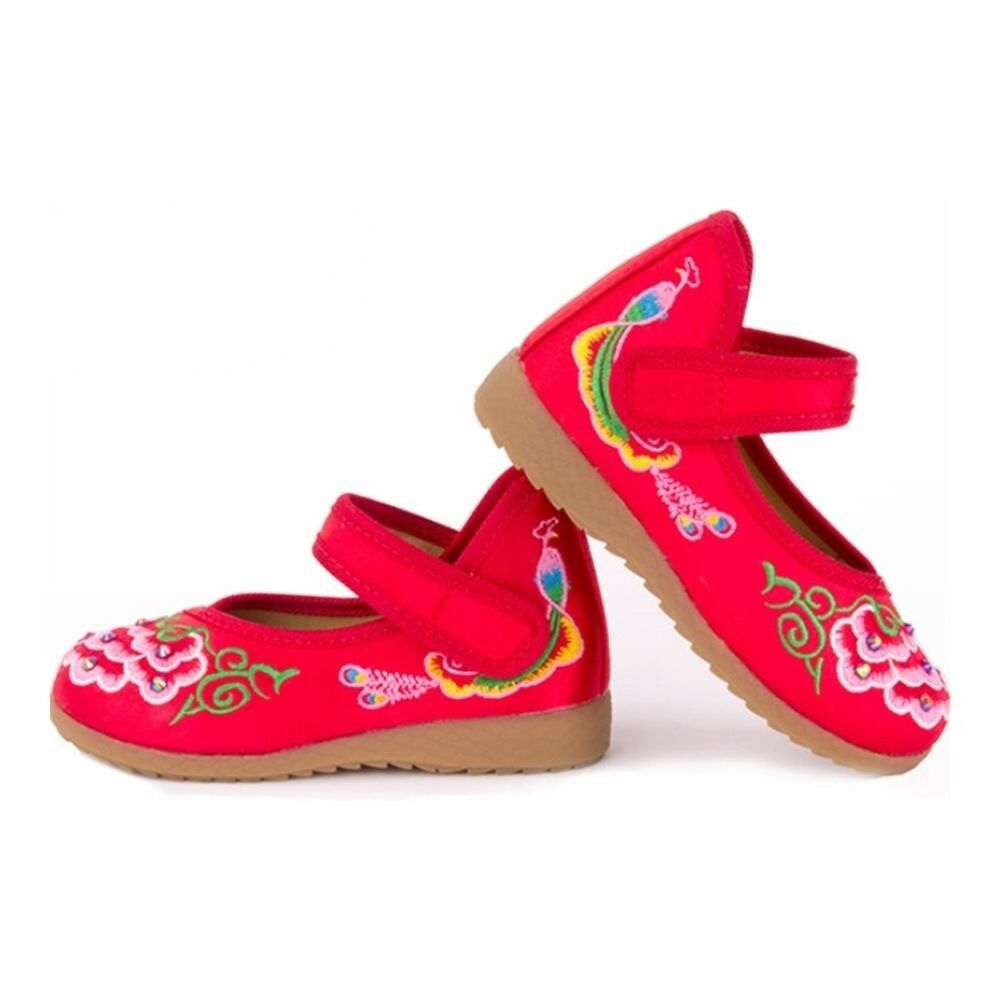 Old Beijing Embroidered Cloth Shoes Kid National Style   red