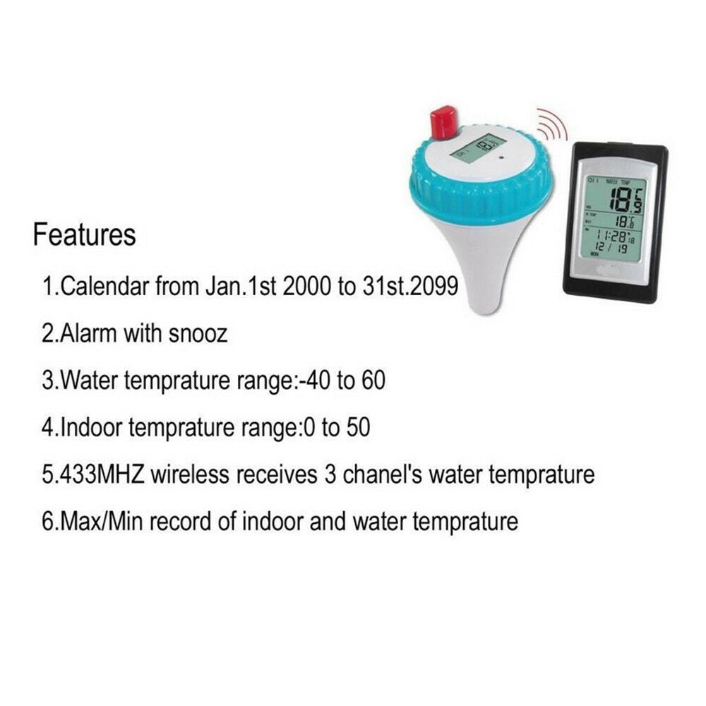 Professional Wireless Digital Pool SPA Thermometer