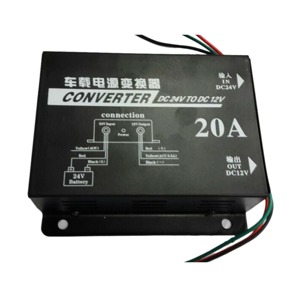 20A Inverter Transformer 24V to 12V DC Stepdown