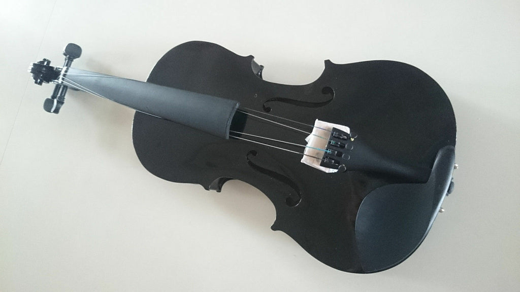 Student Acoustic Violin Full 1/2 Maple Spruce with Case Bow Rosin Black Color