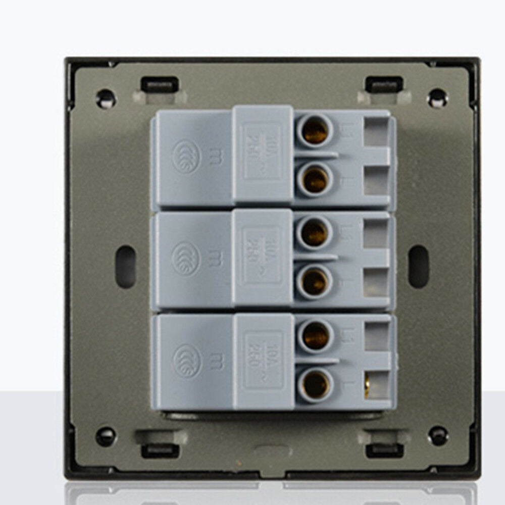 Three billing control wall brushed aluminum LED intelligent switch