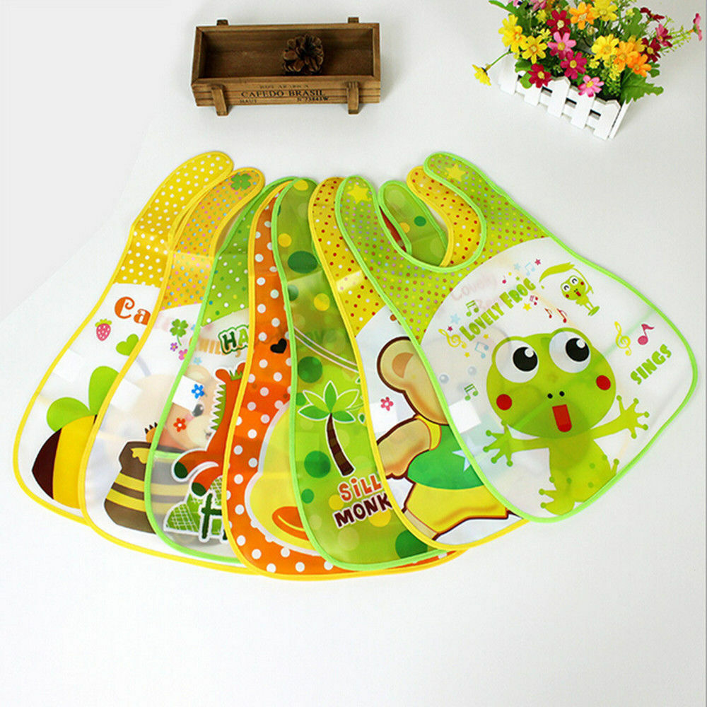 Cute Cartoon Bib Feeding Bibs Baby Bibs Saliva Towel Waterproof  Strawberry