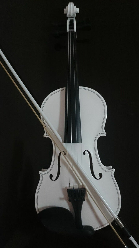 Student Acoustic Violin Full 4/4 Maple Spruce with Case Bow Rosin White Color
