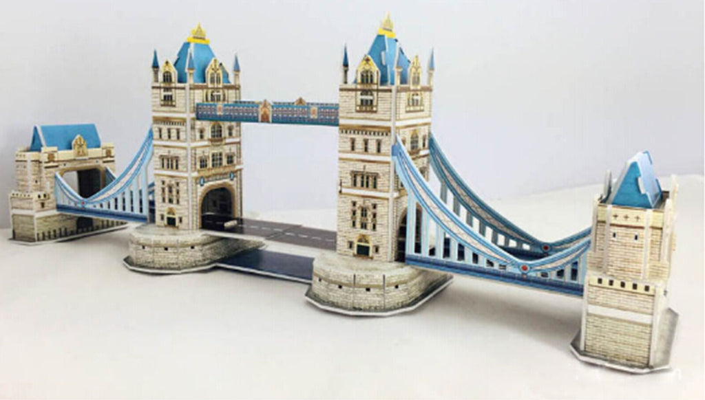 Educational 3D Model Puzzle Jigsaw London Tower Bridge DIY Toy