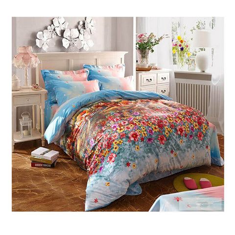 Cotton Active floral printing Quilt Duvet Sheet Cover Sets  Size 32 - Mega Save Wholesale & Retail