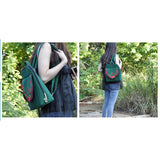 New Yunnan Fashionable National Style Embroidery Bag Stylish Featured Shoulders Bag Fashionable Bag Woman's Bag    green - Mega Save Wholesale & Retail - 5