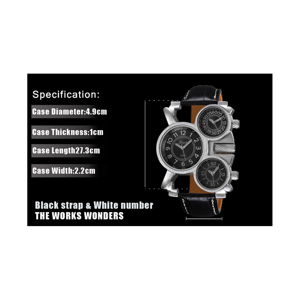 Multi Time-Zone Stainless Steel Quartz Wrist Watch - Mega Save Wholesale & Retail - 5
