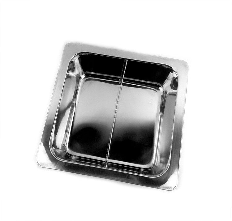 Special thick stainless steel fondue pots square wholesale non-magnetic grid there is no clear lattice duck pot soup pot factory direct   2 Cells - Mega Save Wholesale & Retail - 1
