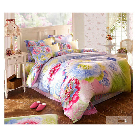 Cotton Active floral printing Quilt Duvet Sheet Cover Sets  Size 37 - Mega Save Wholesale & Retail