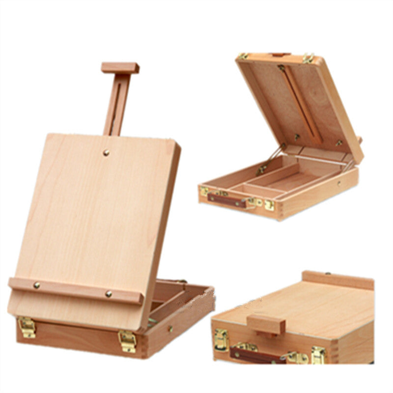Fillet Portable Case Box Easel Painting Hardware Accessories Multifunctional Painting Suitcase Storage - Mega Save Wholesale & Retail - 3