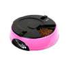 6 Meal Timed Auto Pet Feeder Dog Cat Digital Display Time-lapse Automatic Tray Pink - Mega Save Wholesale & Retail - 1