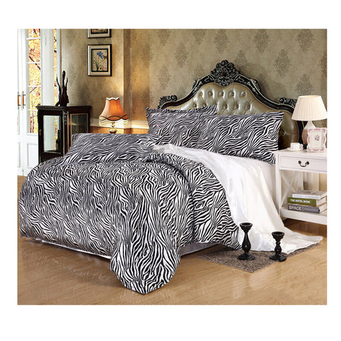 Silk King Queen Double Size Silk Duvet Quilt Cover Sets Bedding Cover Set  06 - Mega Save Wholesale & Retail