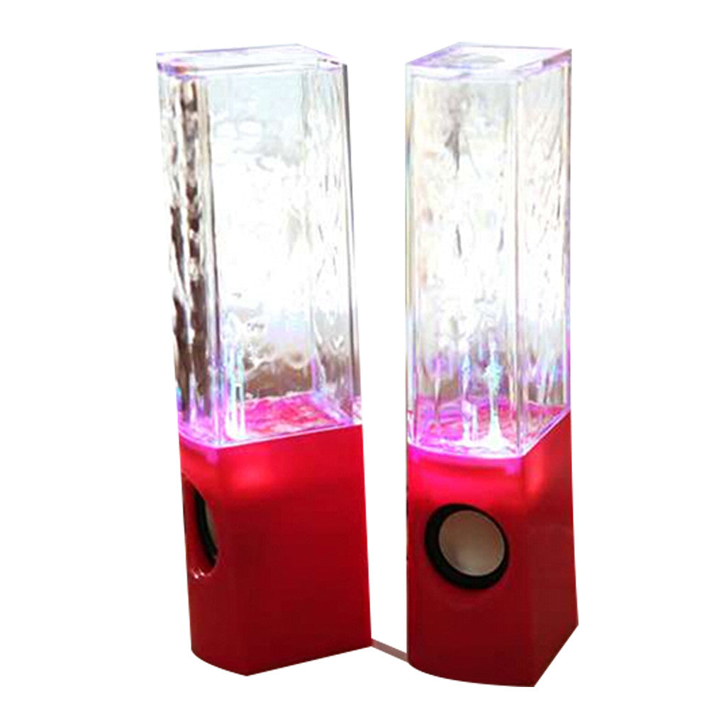 Dancing Water Speaker Music Fountain Light Speakers USB LED Dancing Water Show Red - Mega Save Wholesale & Retail