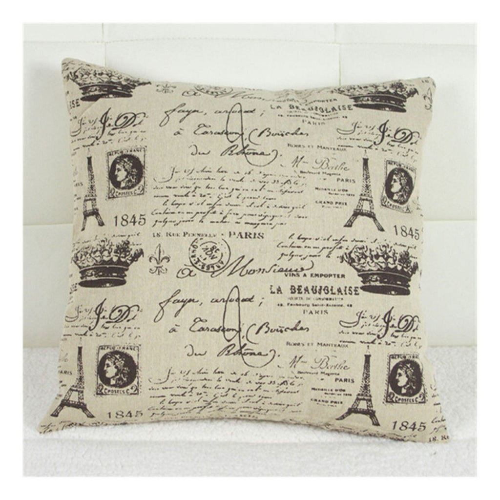 British Printed cotton  pillow cover cushion cover   3 - Mega Save Wholesale & Retail