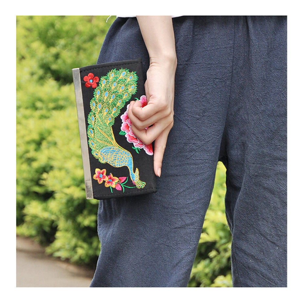 Yunnan National Style Embroidery Handbag National woman's Bag Handbag Small Coin Case - Mega Save Wholesale & Retail - 4