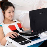 Foldable All in One Laptop Table with Cooling Pad - Mega Save Wholesale & Retail - 4