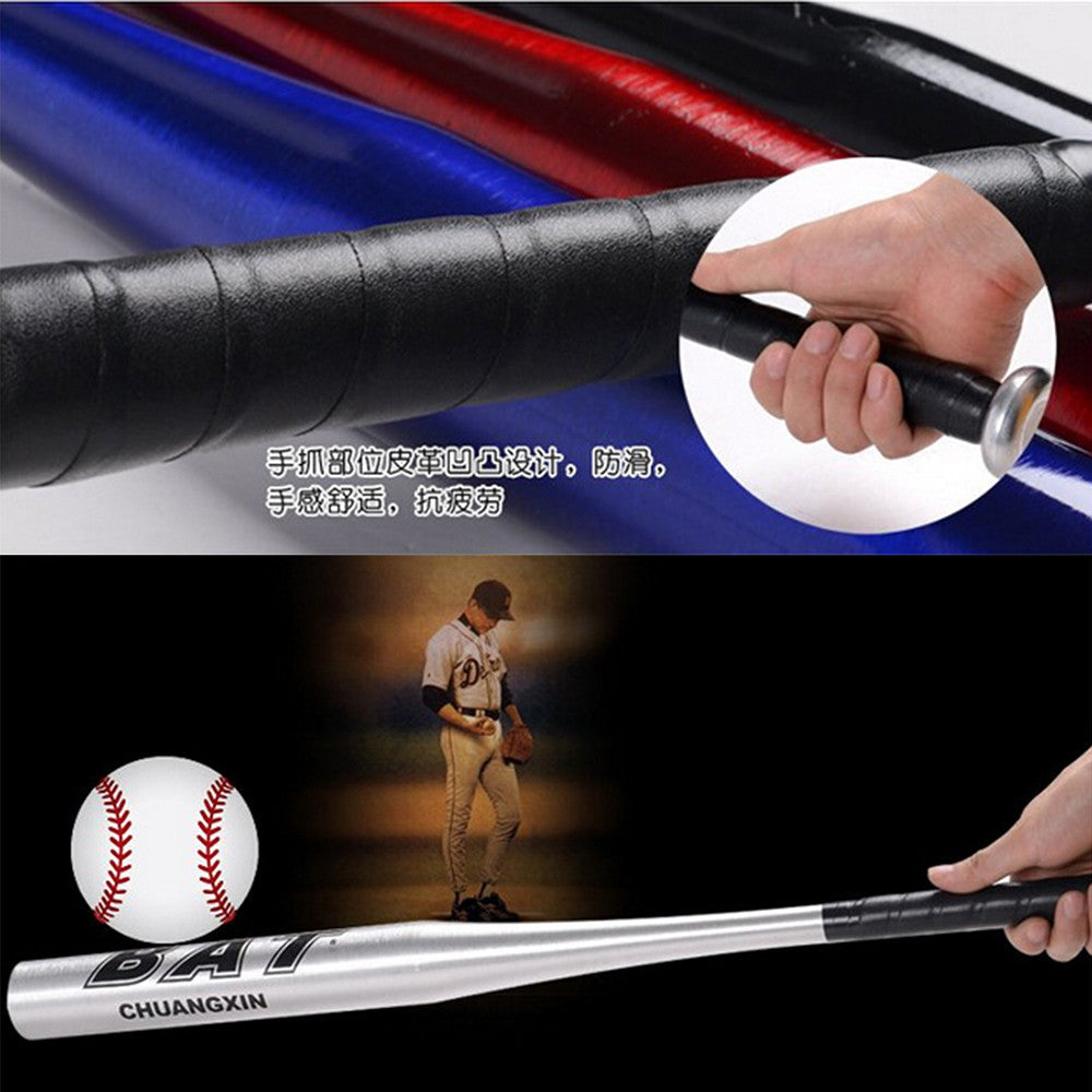 Aluminium Alloy Baseball Stick Thick Defensive Weapon Vehicle-mounted Steel Stick Ball Stick  Silver   25 inches - Mega Save Wholesale & Retail - 2