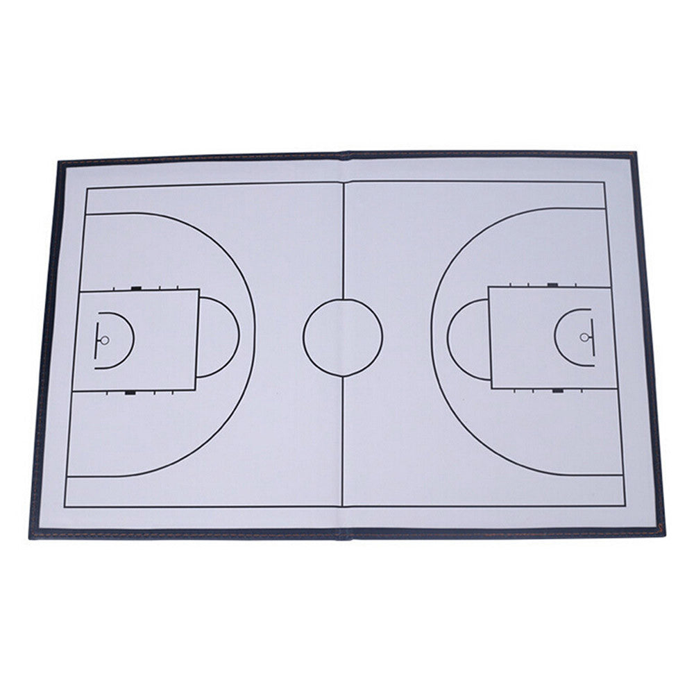 Foldable markers tactics coaching board Basketball Sport strategy board Coaches Tactic Folder - Mega Save Wholesale & Retail - 3