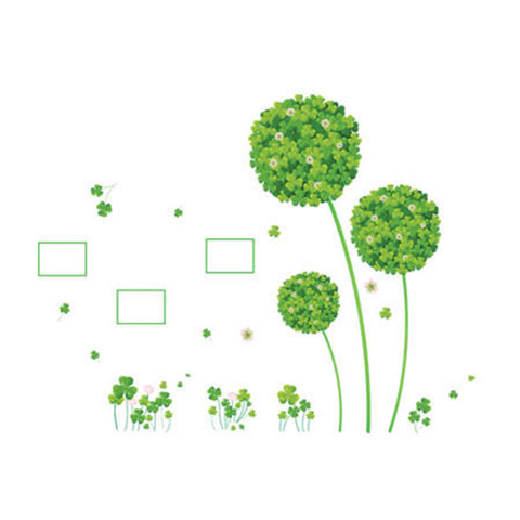 Fresh Clover Wallpaper Wall Sticker Removeable - Mega Save Wholesale & Retail - 1