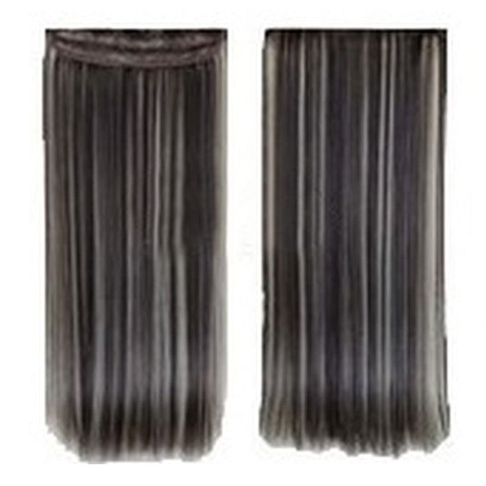 Five card piece 120g high temperature wire synthetic hair Straight hair extension 60 # Seamless wig curtain Highlights   #4/613 - Mega Save Wholesale & Retail - 1