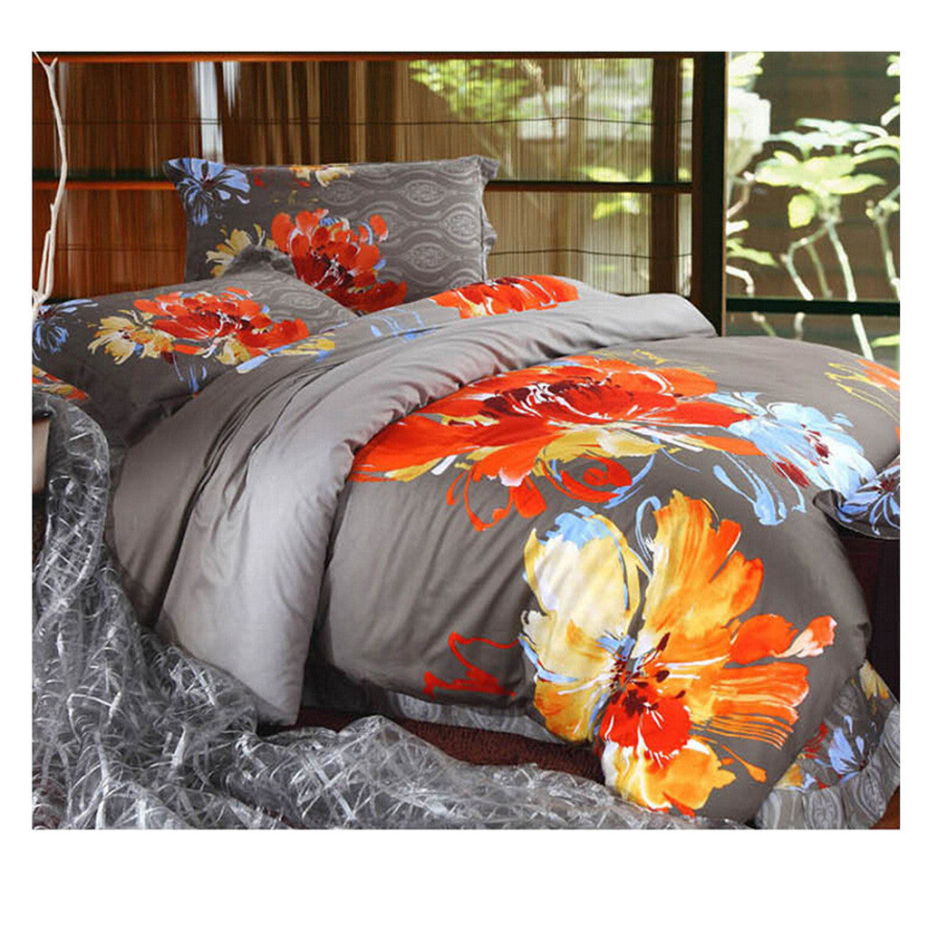 Cotton Active floral printing Quilt Duvet Sheet Cover Sets  Size 41 - Mega Save Wholesale & Retail