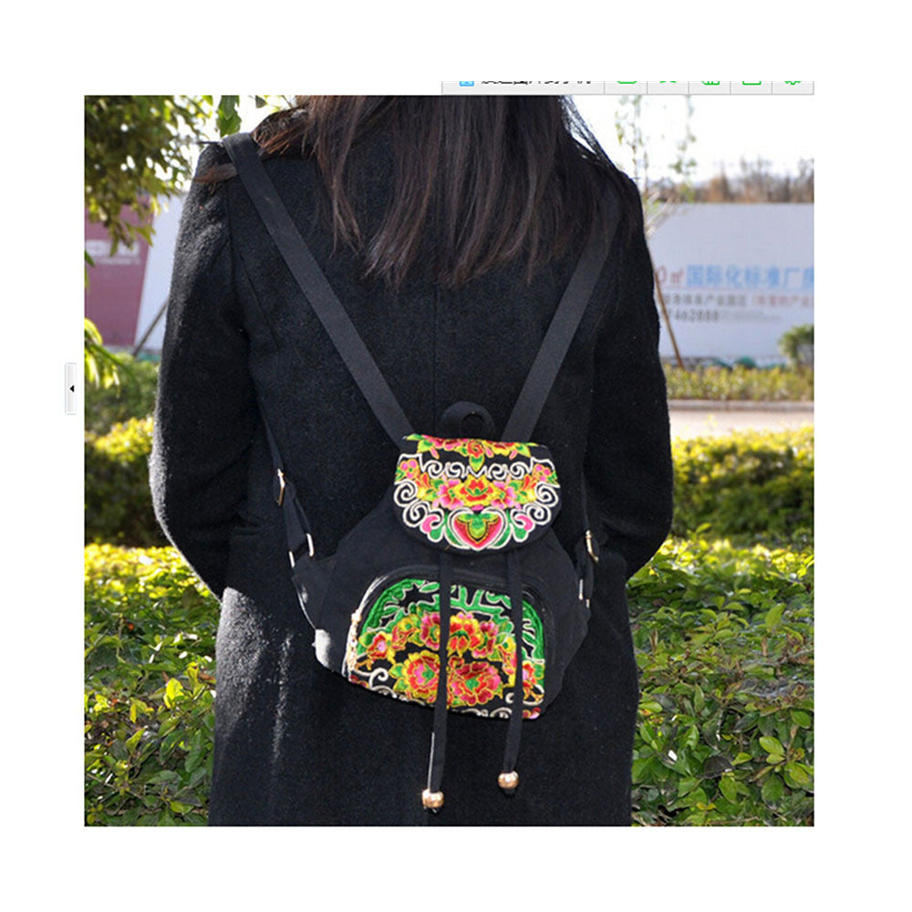 New Yunnan Fashionable Embroidery Bag Stylish Featured Shoulders Bag Fashionable Woman's Bag Bulk 93012   black - Mega Save Wholesale & Retail - 5