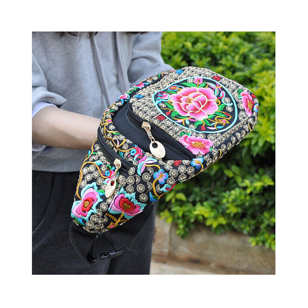 New Original Design Cosmetic Bag Woman's Bag High Volume Waist Bag    copper crash tree  with flower - Mega Save Wholesale & Retail - 5