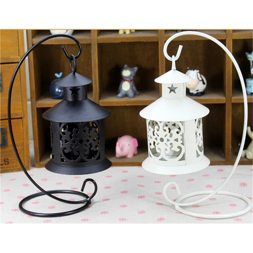 Retro Hollowed Out Iron Art Candle Holder Black - Mega Save Wholesale & Retail - 5