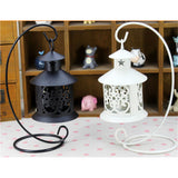 Retro Hollowed Out Iron Art Candle Holder  White - Mega Save Wholesale & Retail - 5
